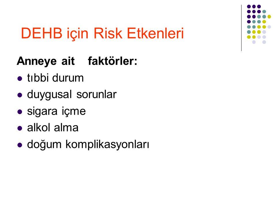 DEHB için Risk Etkenleri
