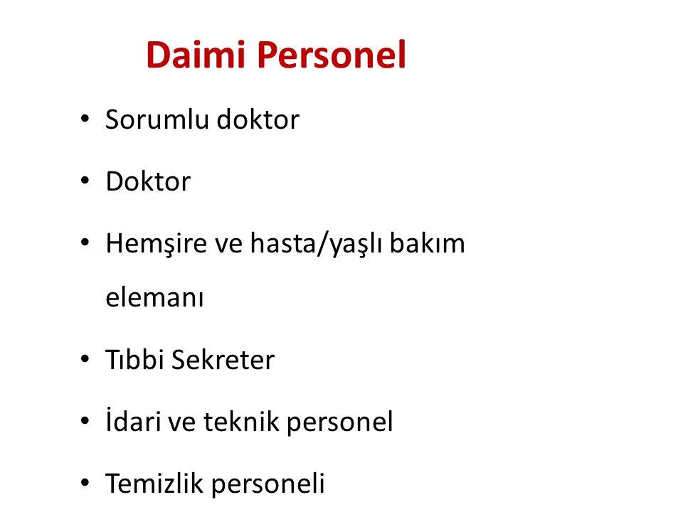Daimi Personel Sorumlu doktor Doktor
