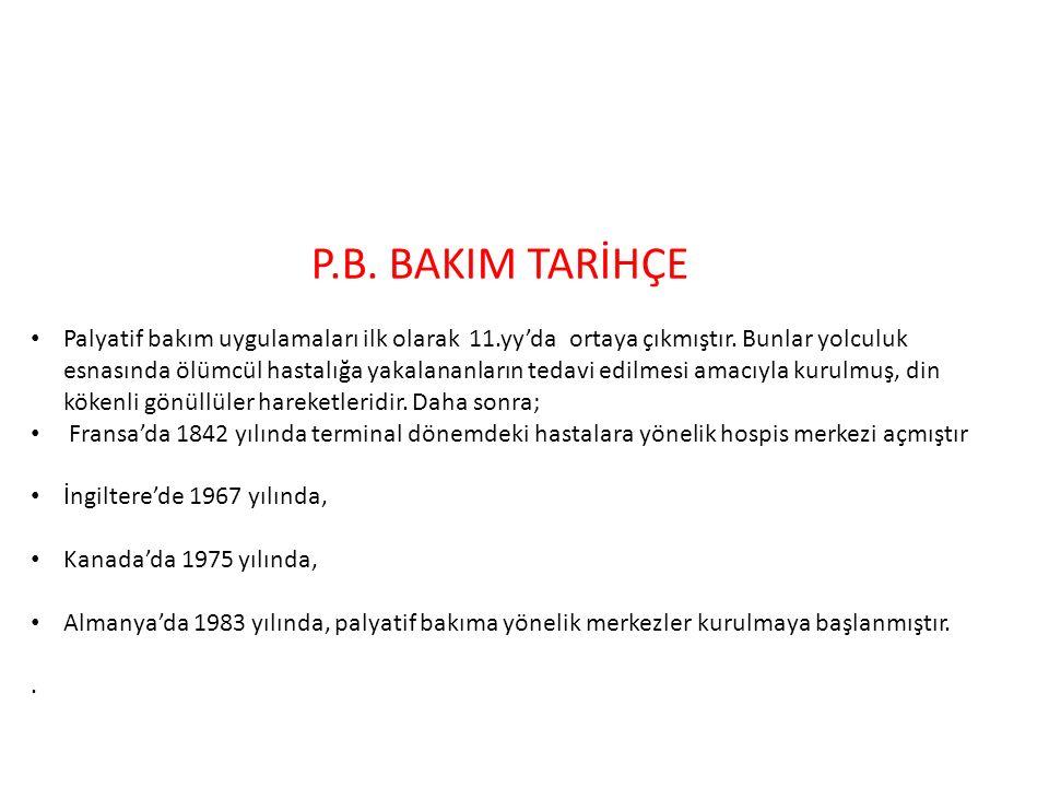 P.B. BAKIM TARİHÇE