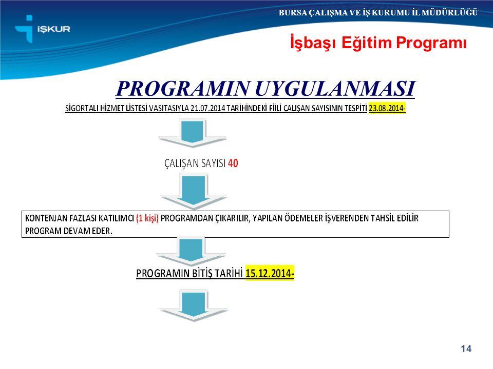 İşbaşı Eğitim Programı