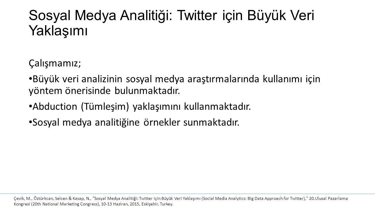 Sosyal Medya Analitiği: Twitter için Büyük Veri Yaklaşımı
