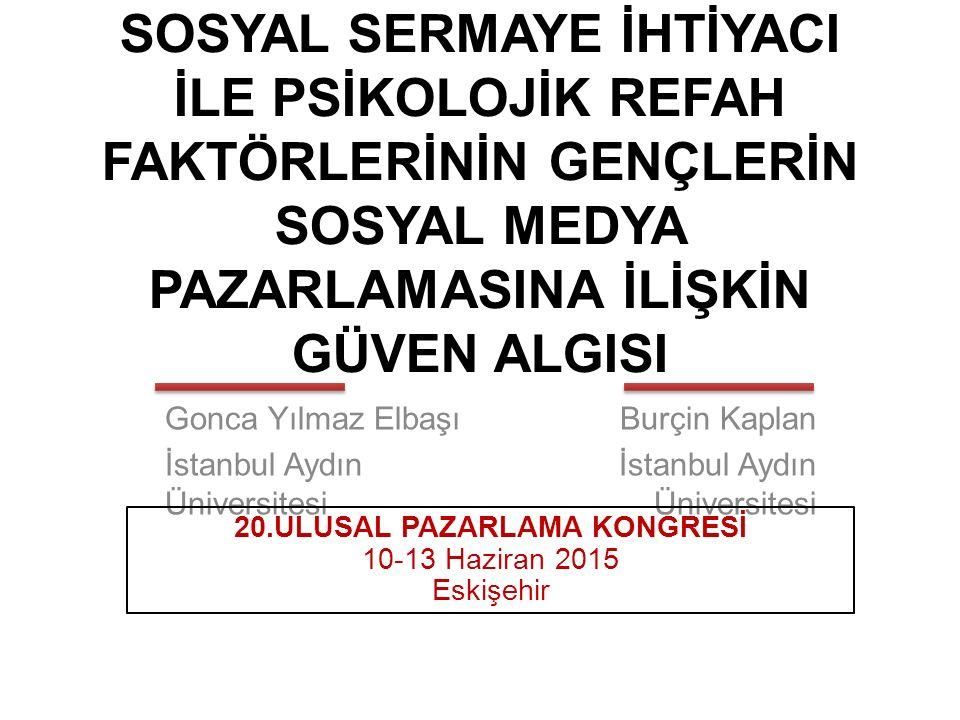 20.ULUSAL PAZARLAMA KONGRESİ