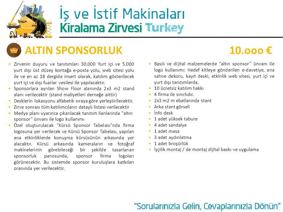 ALTIN SPONSORLUK 10.ooo €