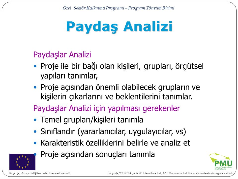 Paydaş Analizi Paydaşlar Analizi