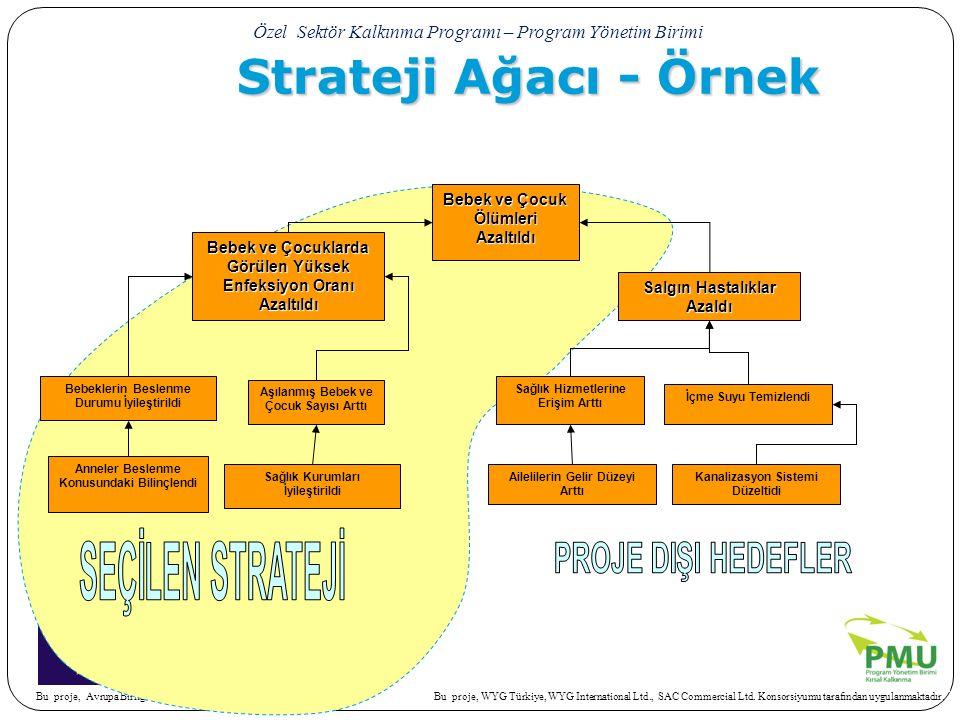 Strateji Ağacı - Örnek SEÇİLEN STRATEJİ PROJE DIŞI HEDEFLER