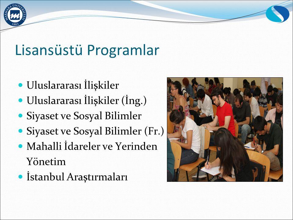 Lisansüstü Programlar