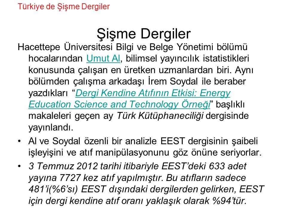 Türkiye de Şişme Dergiler