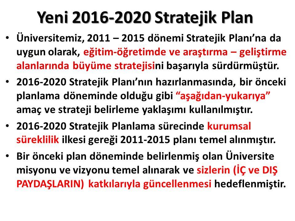 Yeni 2016-2020 Stratejik Plan