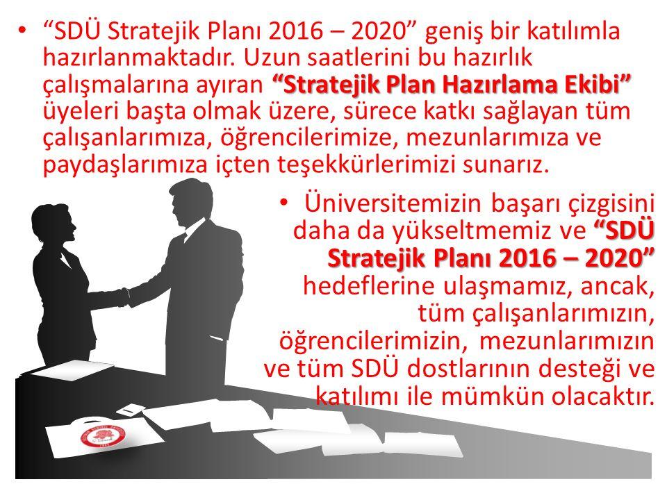 SDÜ Stratejik Planı 2016 – 2020 geniş bir katılımla hazırlanmaktadır