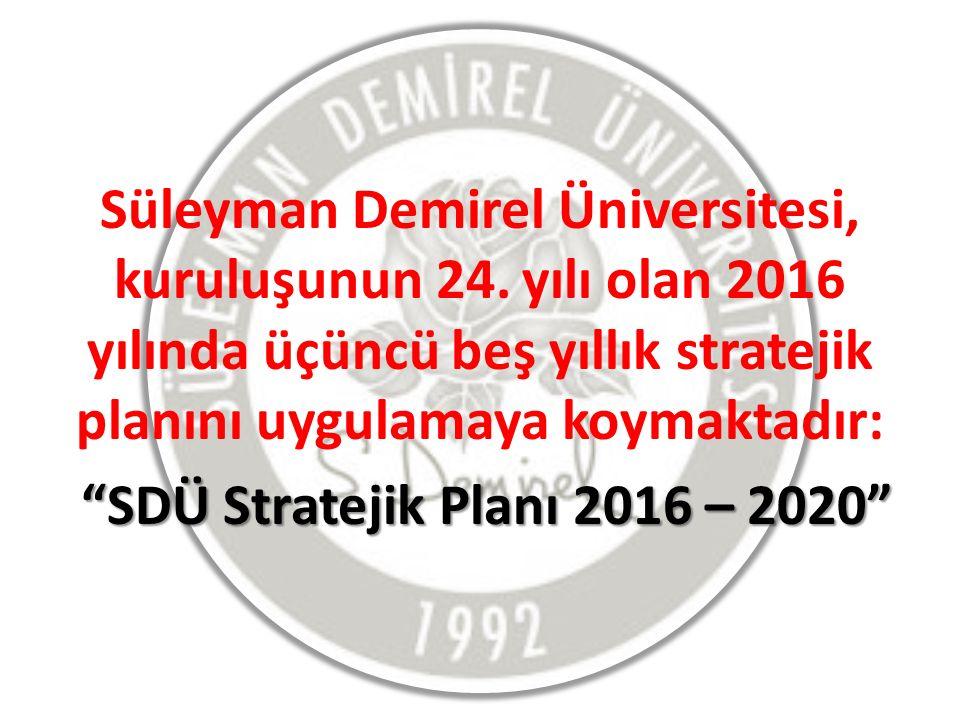 Süleyman Demirel Üniversitesi, kuruluşunun 24