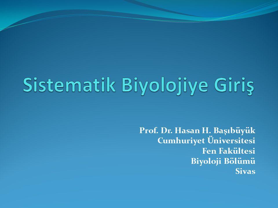 Sistematik Biyolojiye Giriş