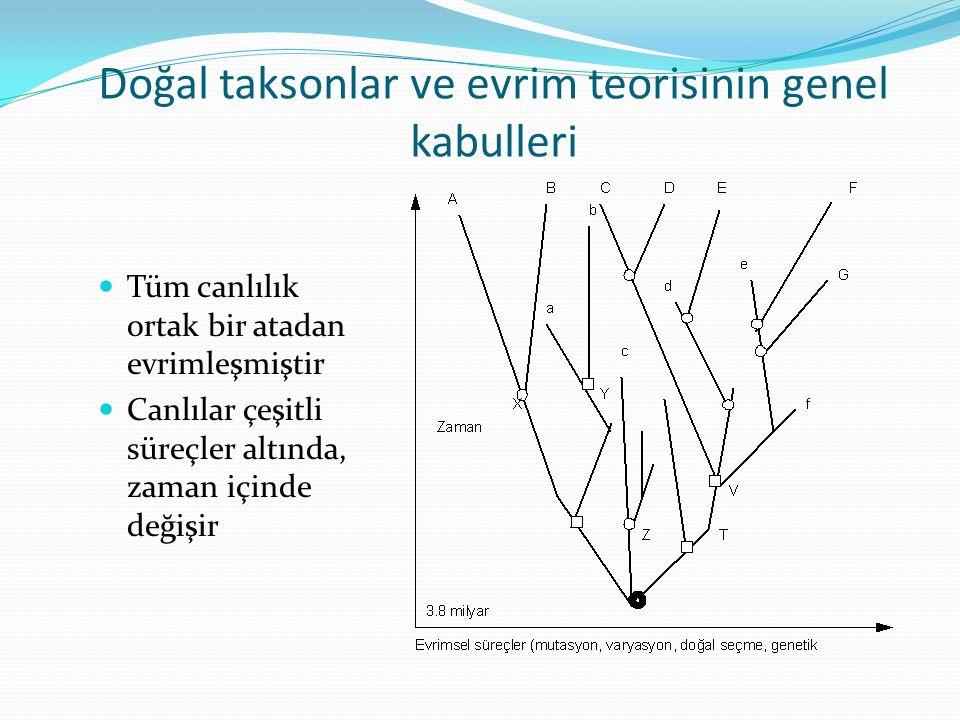 Doğal taksonlar ve evrim teorisinin genel kabulleri