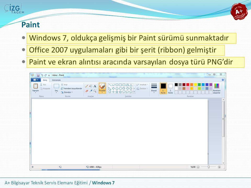 Paint Windows 7, oldukça gelişmiş bir Paint sürümü sunmaktadır