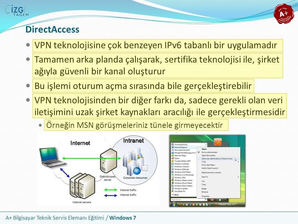 DirectAccess VPN teknolojisine çok benzeyen IPv6 tabanlı bir uygulamadır.