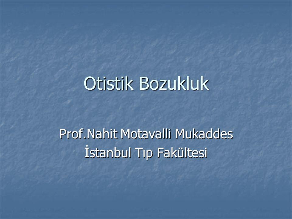 Prof.Nahit Motavalli Mukaddes İstanbul Tıp Fakültesi