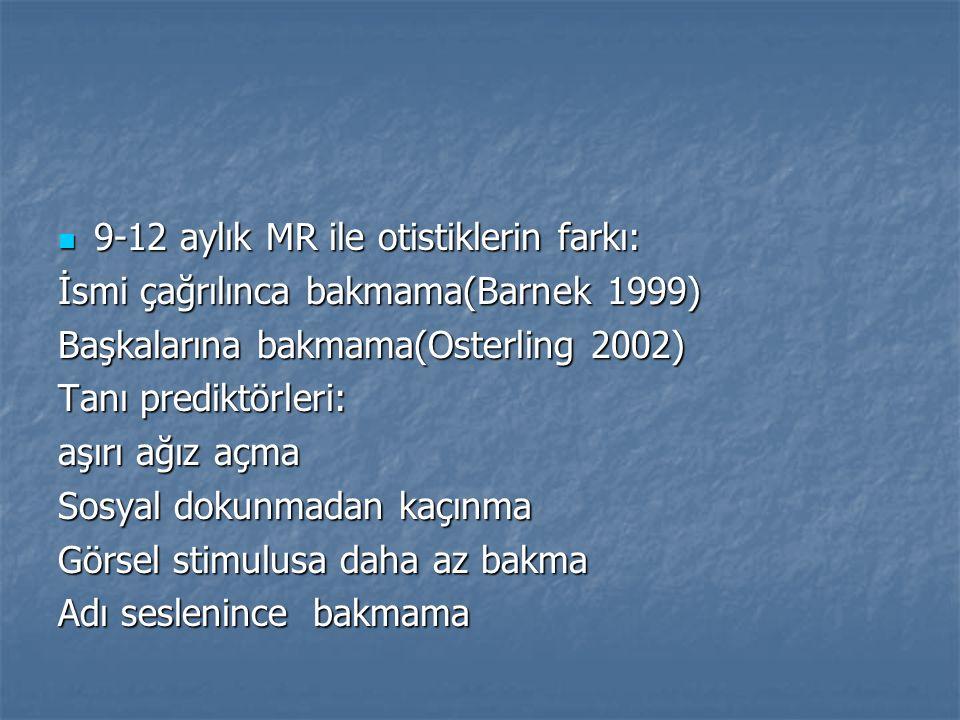 9-12 aylık MR ile otistiklerin farkı:
