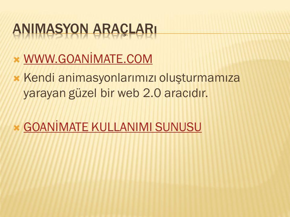 Animasyon araçları WWW.GOANİMATE.COM