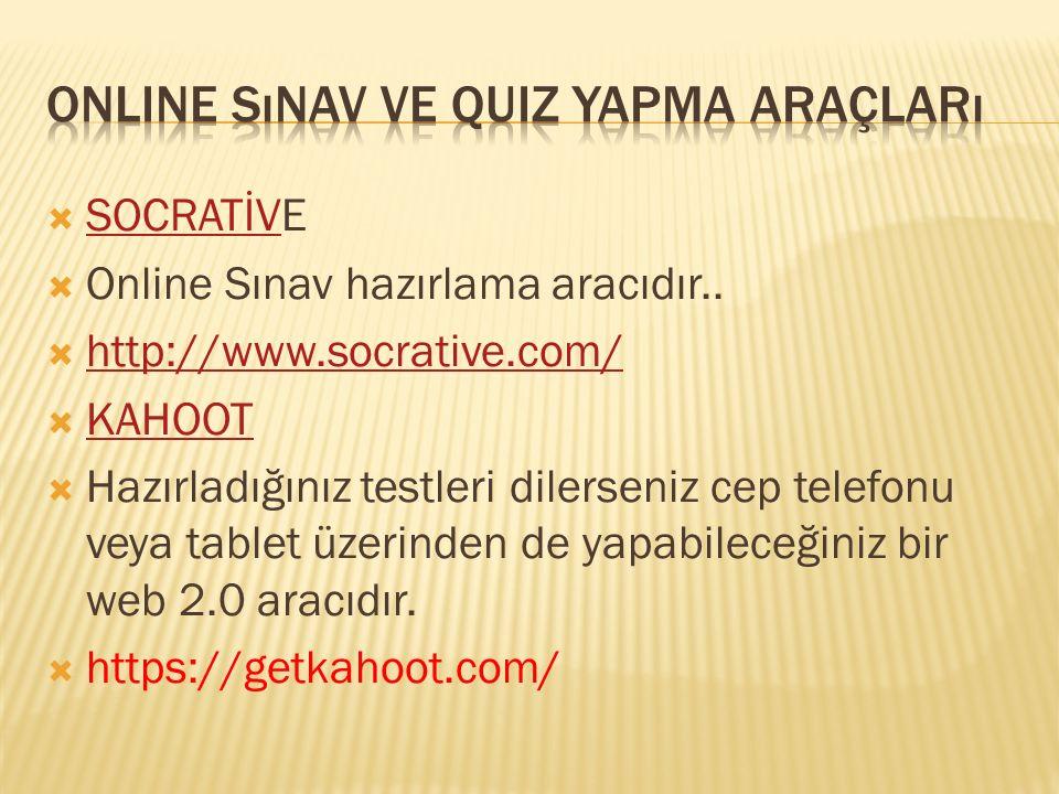 Online sınav ve quiz yapma araçları