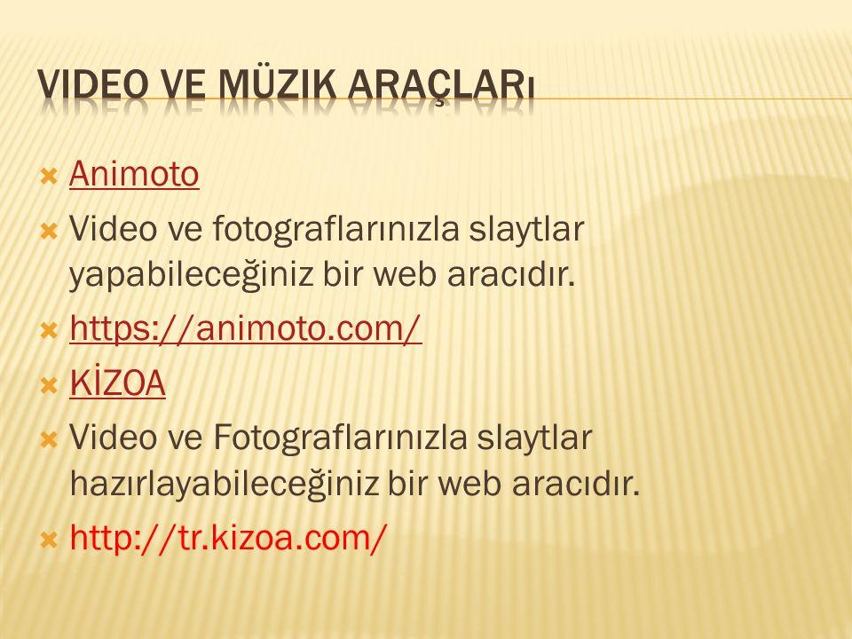 Video ve müzik araçları