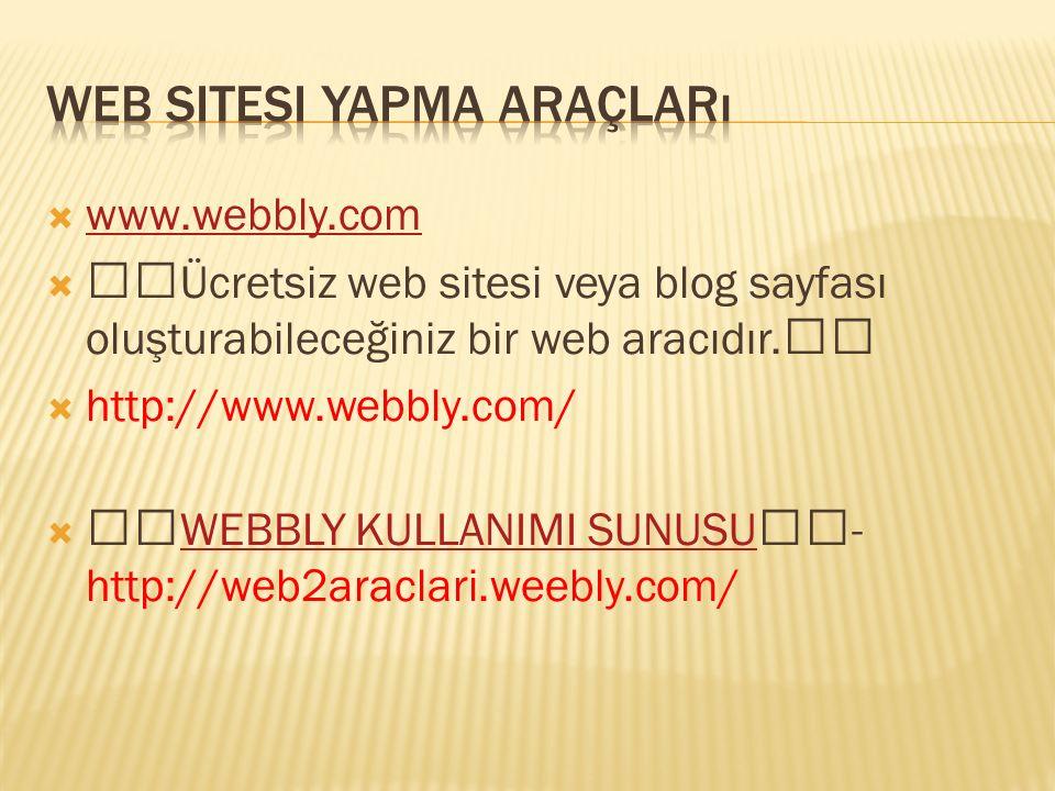 Web sitesi yapma araçları
