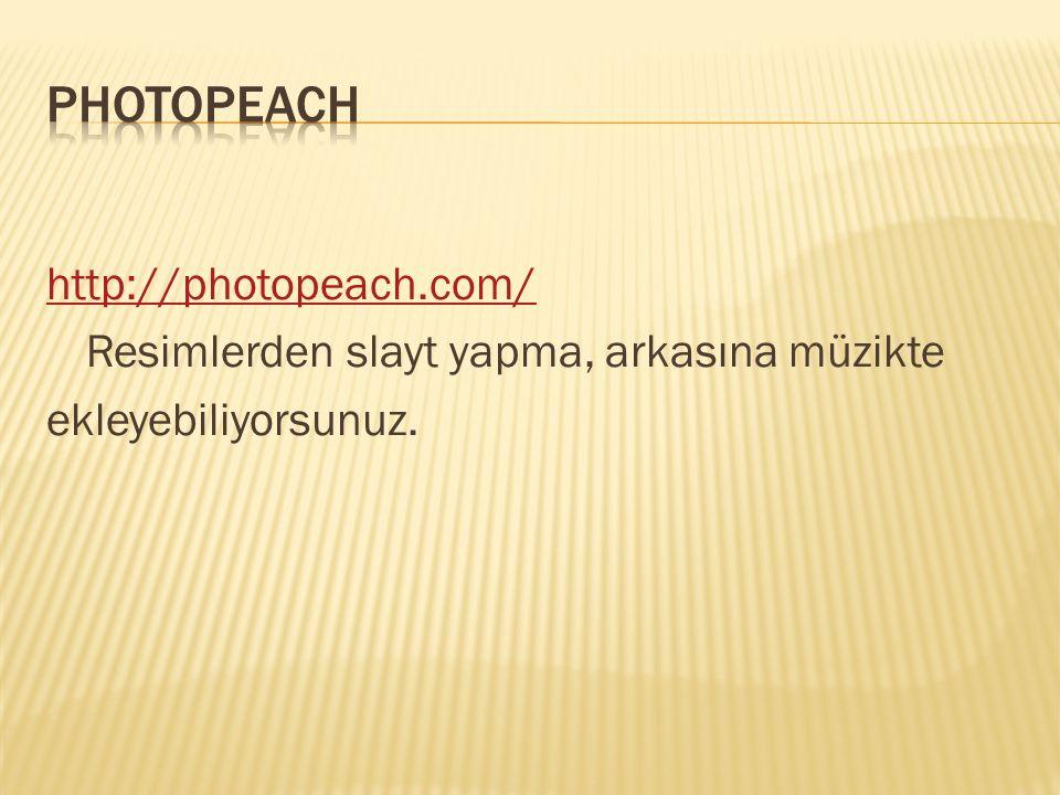 PHOTOPEACH http://photopeach.com/