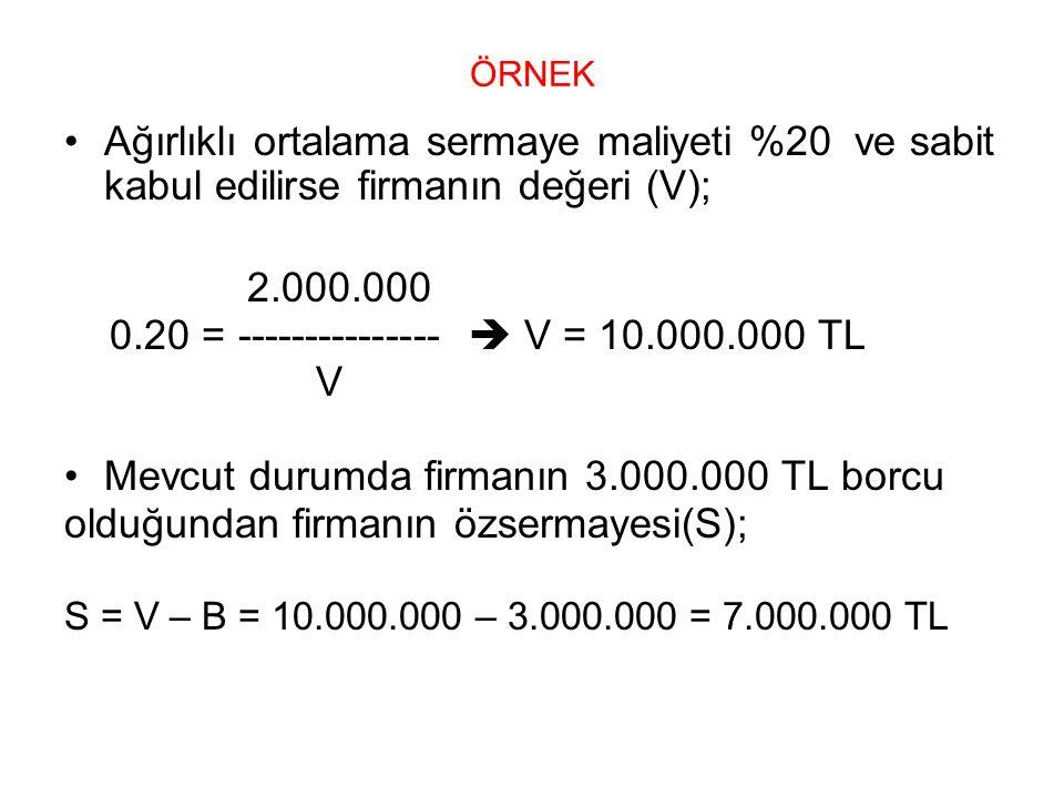 0.20 = ---------------  V = 10.000.000 TL V