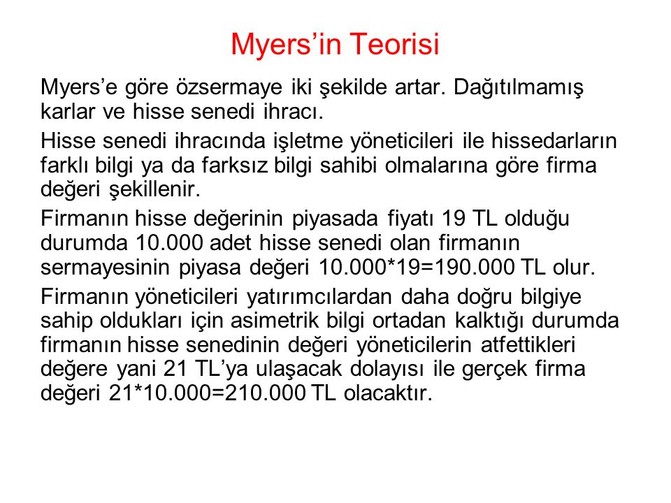 Myers'in Teorisi