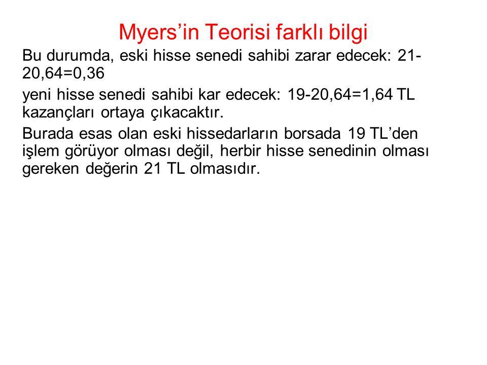 Myers'in Teorisi farklı bilgi