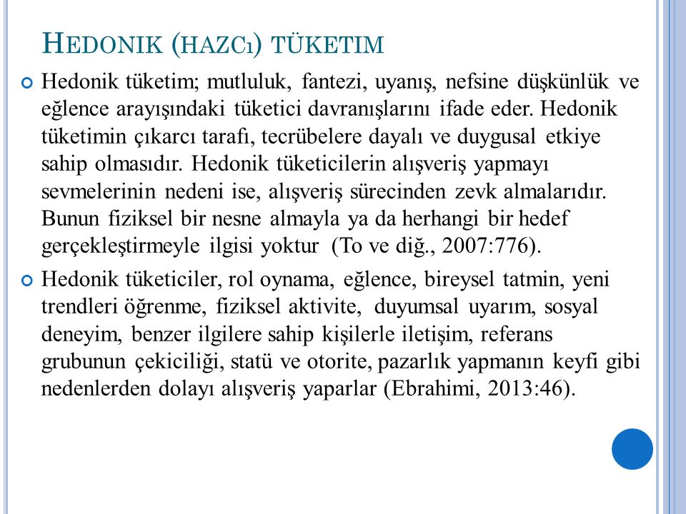 Hedonik (hazcı) tüketim