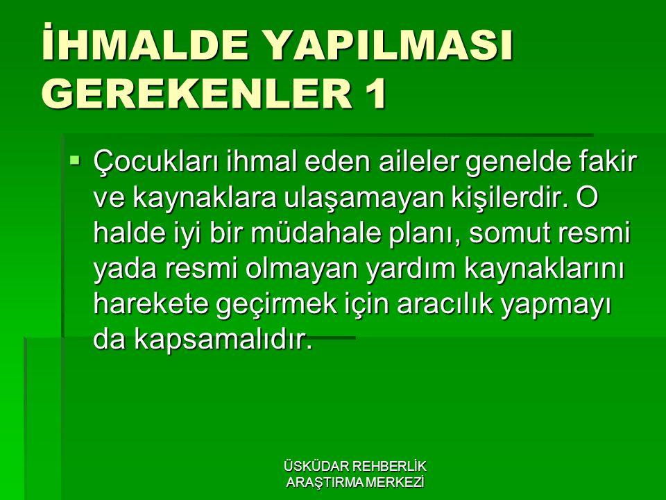 İHMALDE YAPILMASI GEREKENLER 1