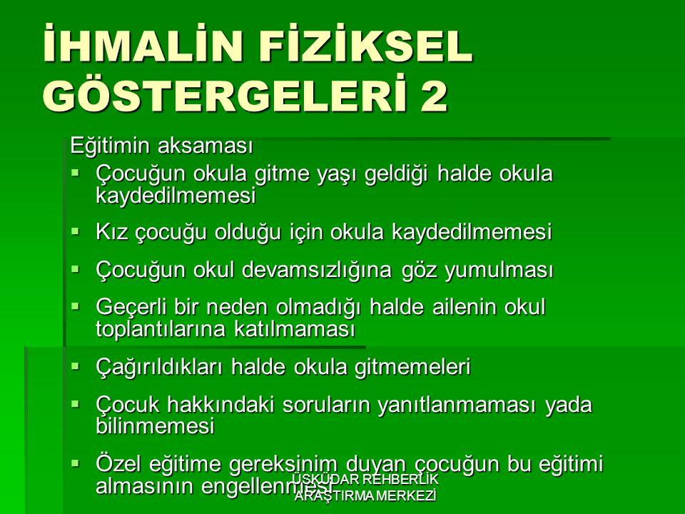 İHMALİN FİZİKSEL GÖSTERGELERİ 2