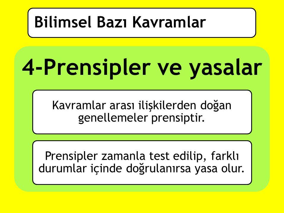 4-Prensipler ve yasalar