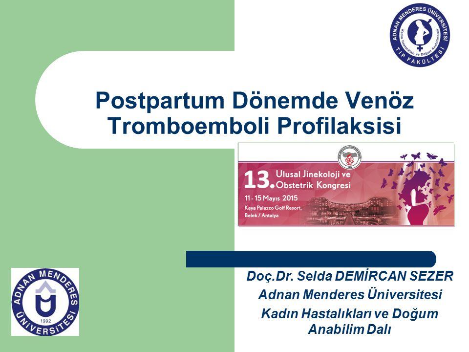 Postpartum Dönemde Venöz Tromboemboli Profilaksisi