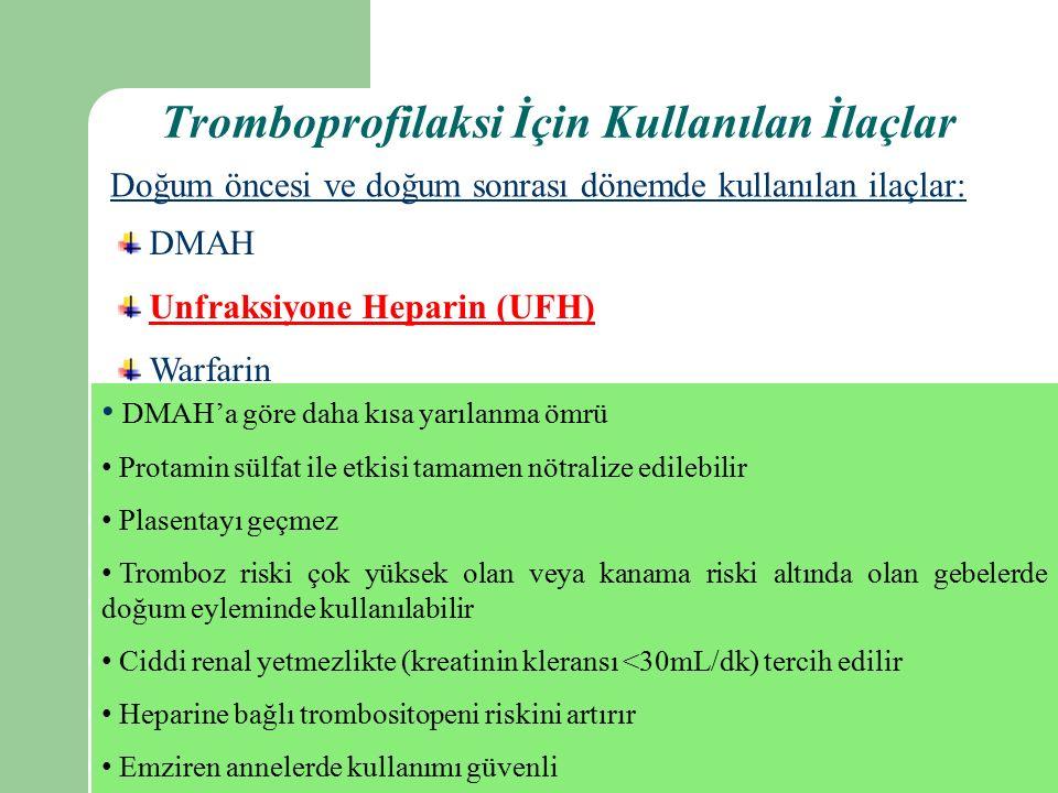 Tromboprofilaksi İçin Kullanılan İlaçlar