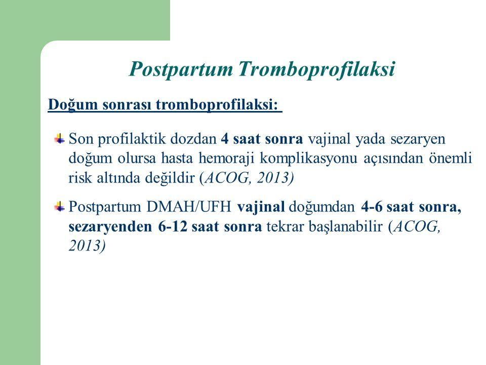 Doğum sonrası tromboprofilaksi: