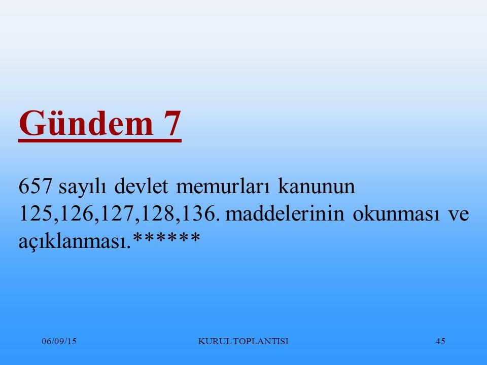 Gündem 7 657 sayılı devlet memurları kanunun 125,126,127,128,136