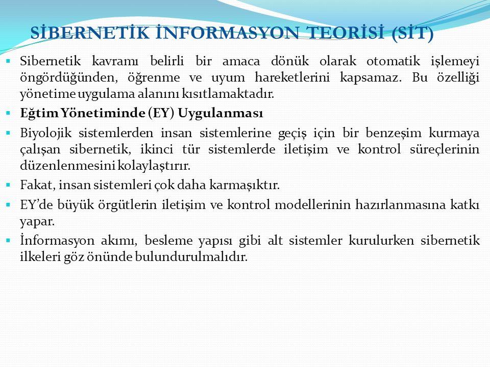 SİBERNETİK İNFORMASYON TEORİSİ (SİT)
