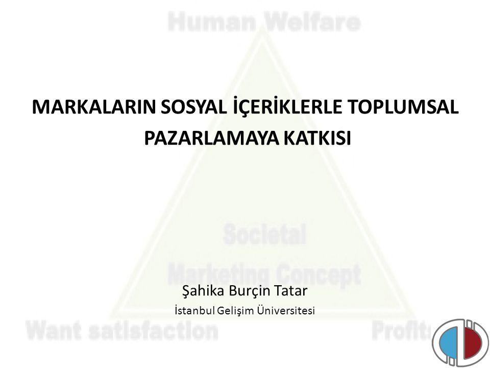 MARKALARIN SOSYAL İÇERİKLERLE TOPLUMSAL