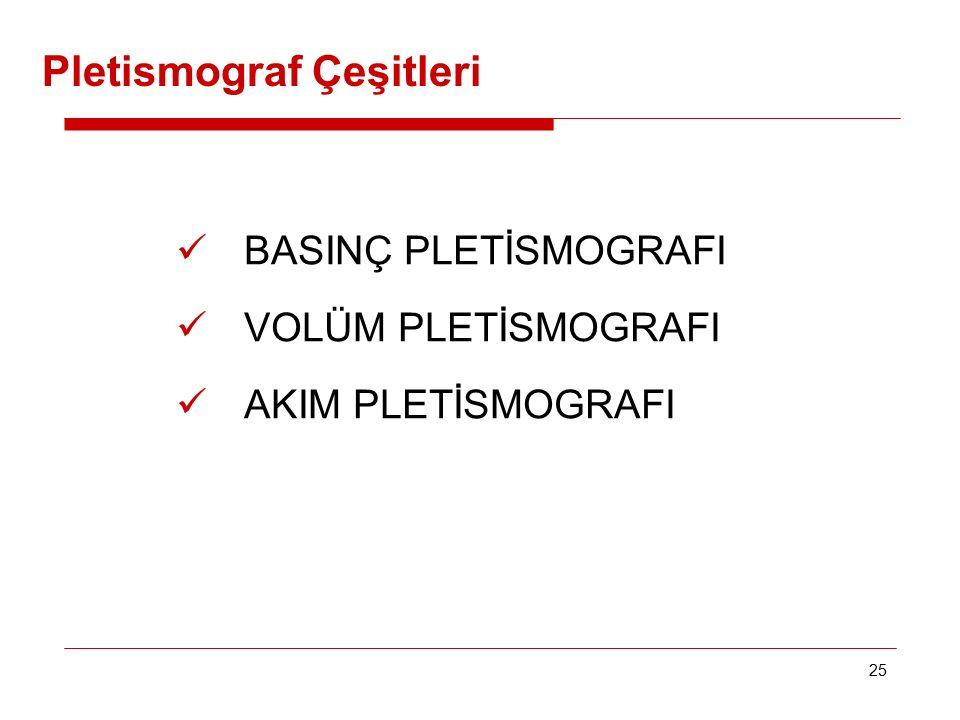 Pletismograf Çeşitleri