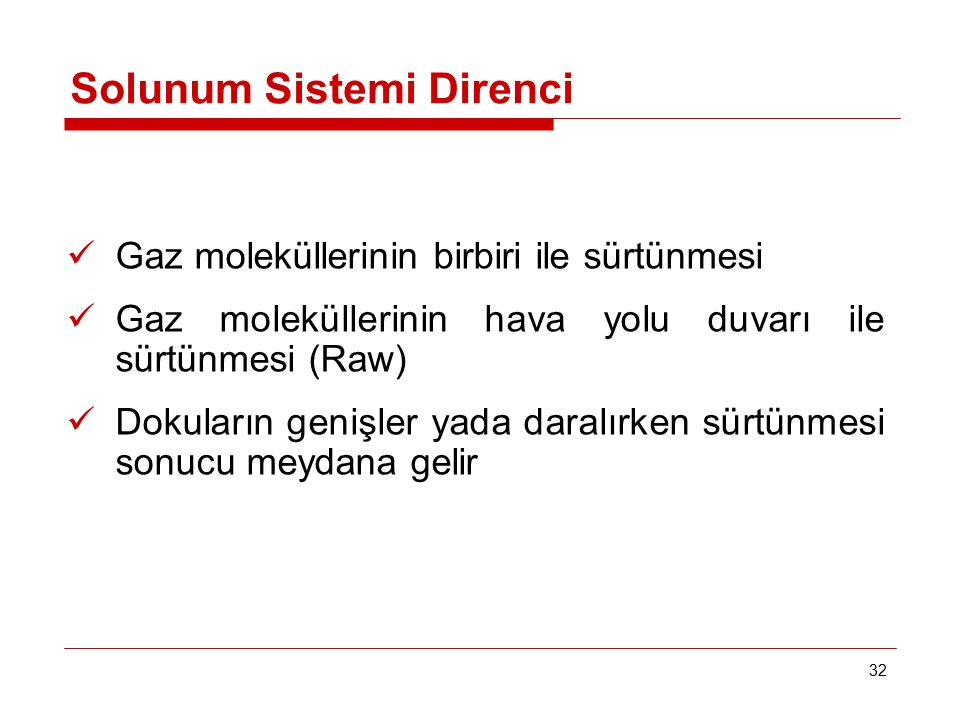 Solunum Sistemi Direnci
