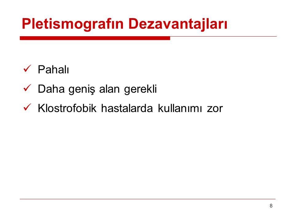 Pletismografın Dezavantajları