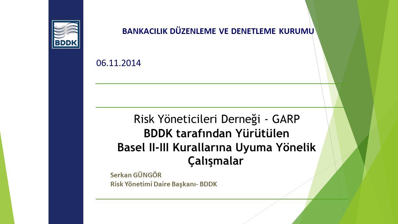 Risk Yöneticileri Derneği - GARP BDDK tarafından Yürütülen