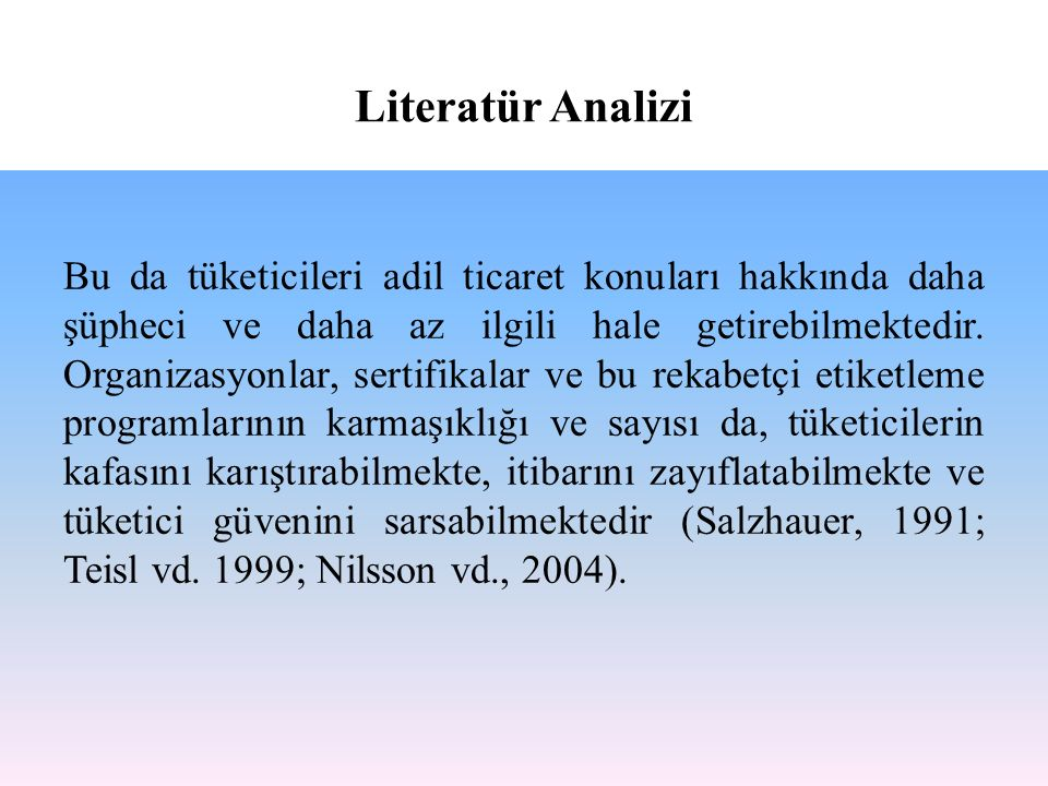 Literatür Analizi