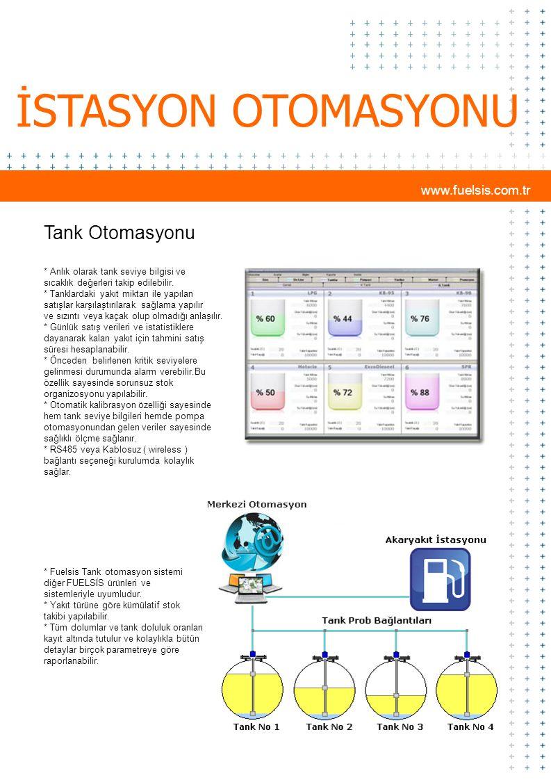 İSTASYON OTOMASYONU Tank Otomasyonu www.fuelsis.com.tr