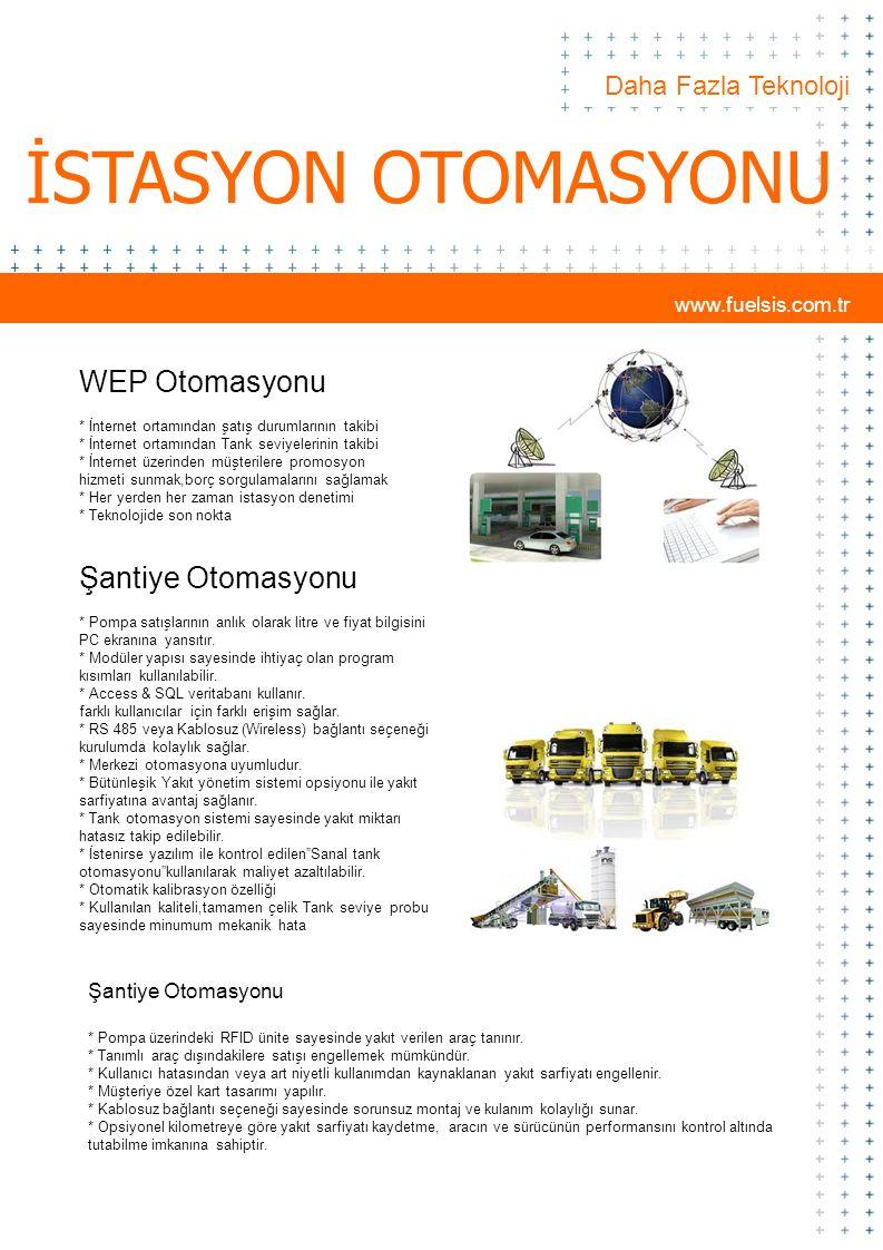 İSTASYON OTOMASYONU WEP Otomasyonu Şantiye Otomasyonu
