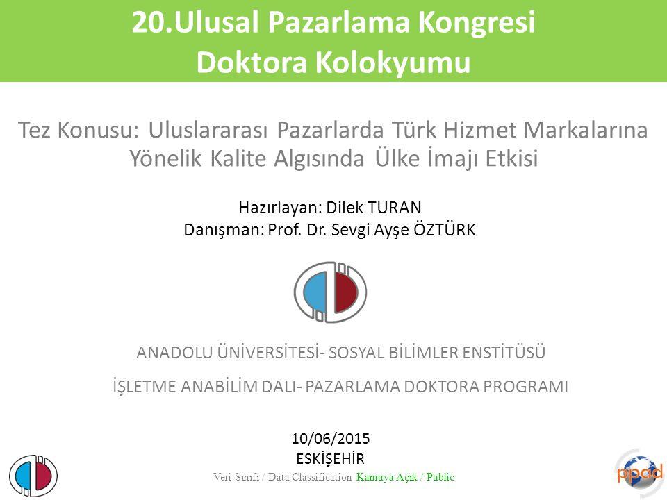 20.Ulusal Pazarlama Kongresi Doktora Kolokyumu