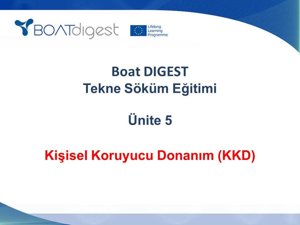 Boat DIGEST Tekne Söküm Eğitimi Ünite 5