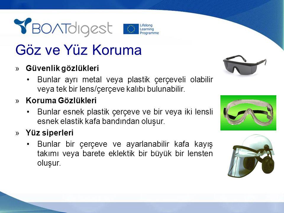 Göz ve Yüz Koruma Güvenlik gözlükleri