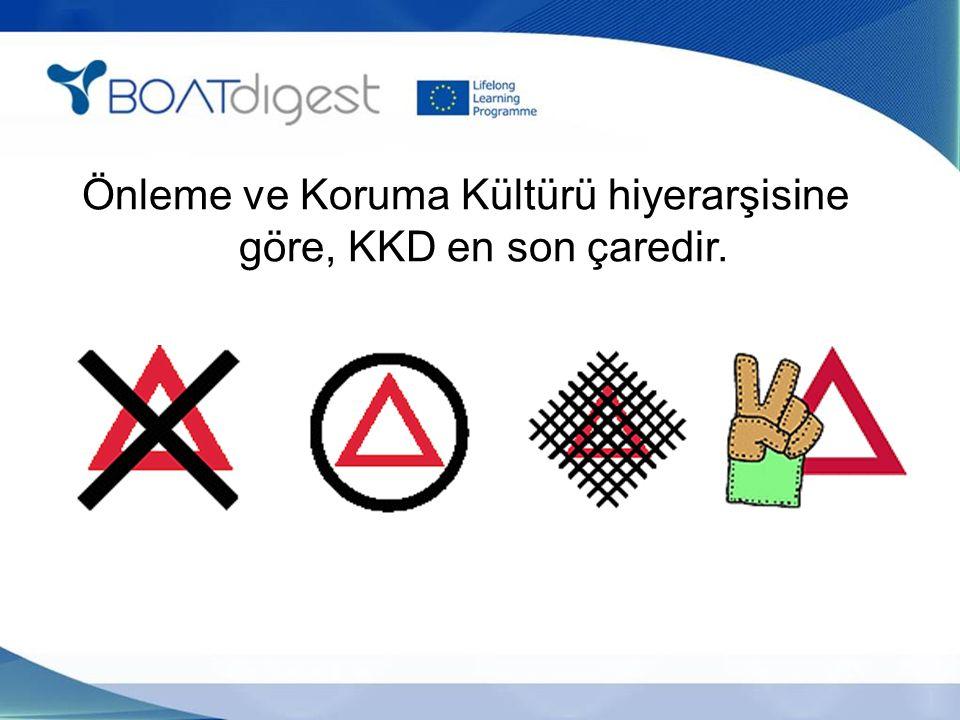 Önleme ve Koruma Kültürü hiyerarşisine göre, KKD en son çaredir.