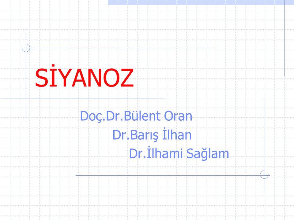 Doç.Dr.Bülent Oran Dr.Barış İlhan Dr.İlhami Sağlam